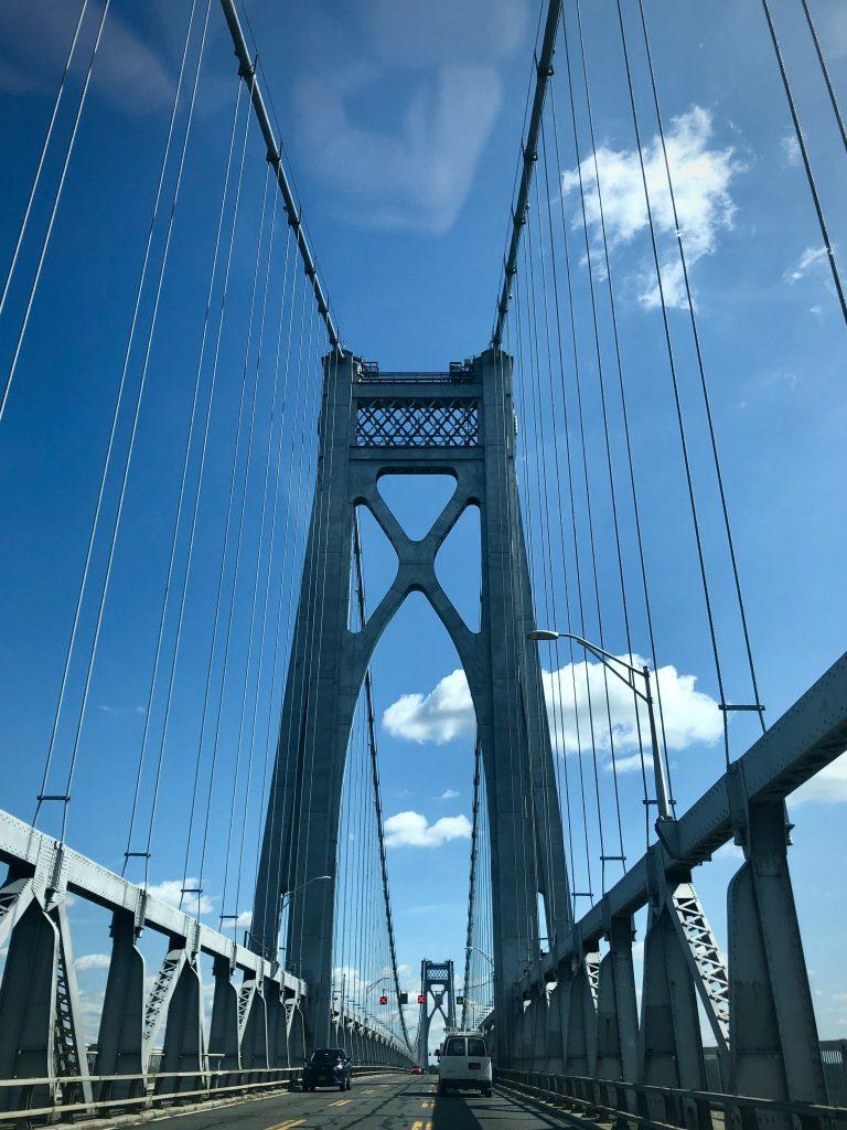 Bridge to blue skies